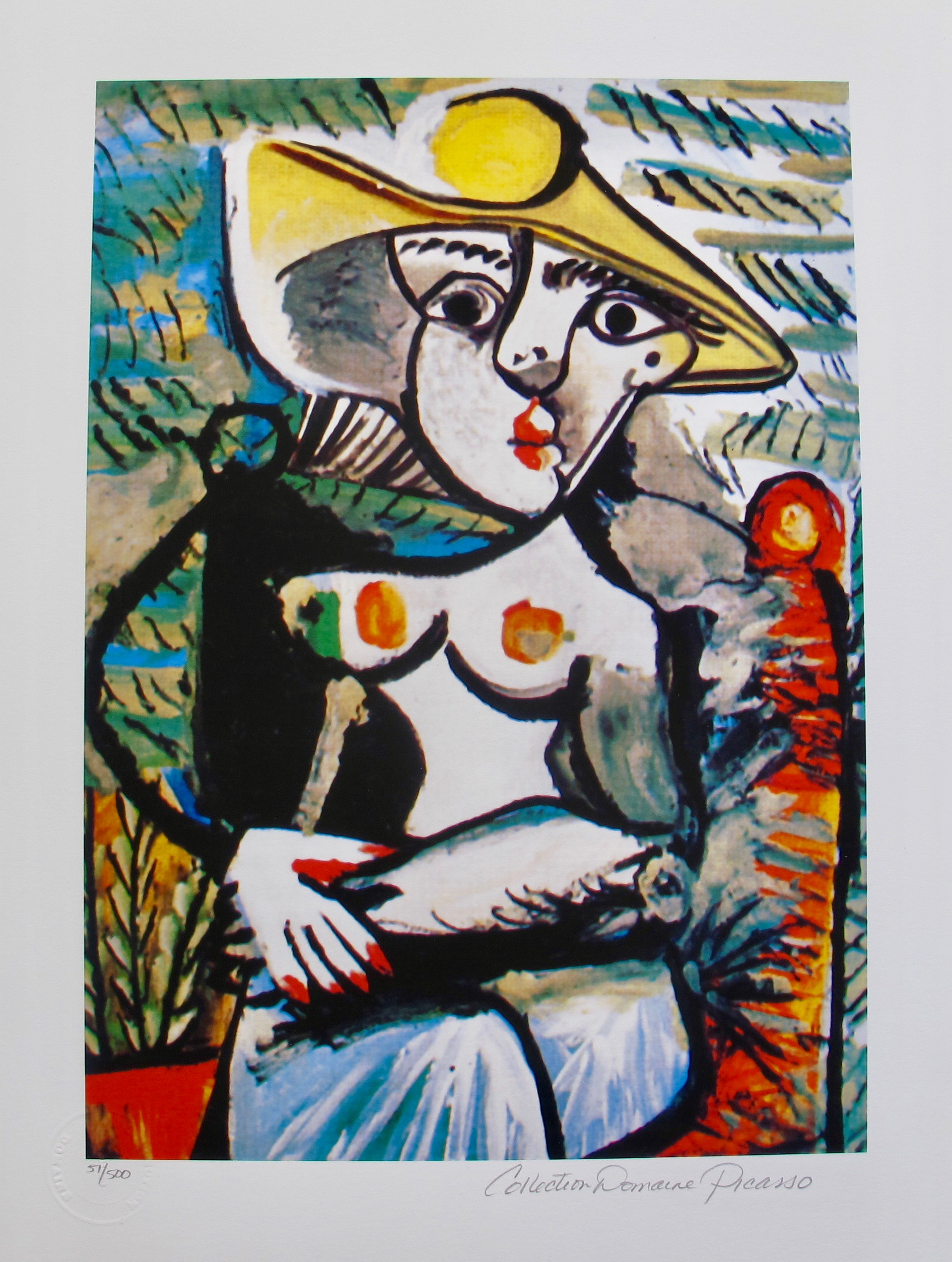 Pablo Picasso HALF NUDE LADY Estate Signed Limited Edition Giclee