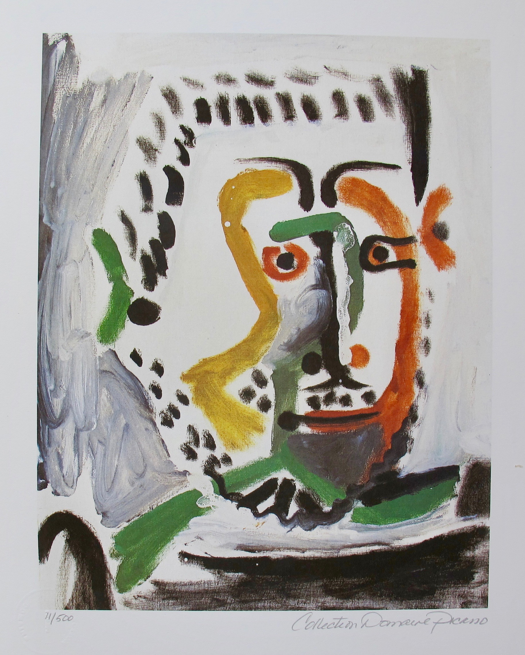 Pablo Picasso MAN'S HEAD Estate Signed Limited Edition Giclee