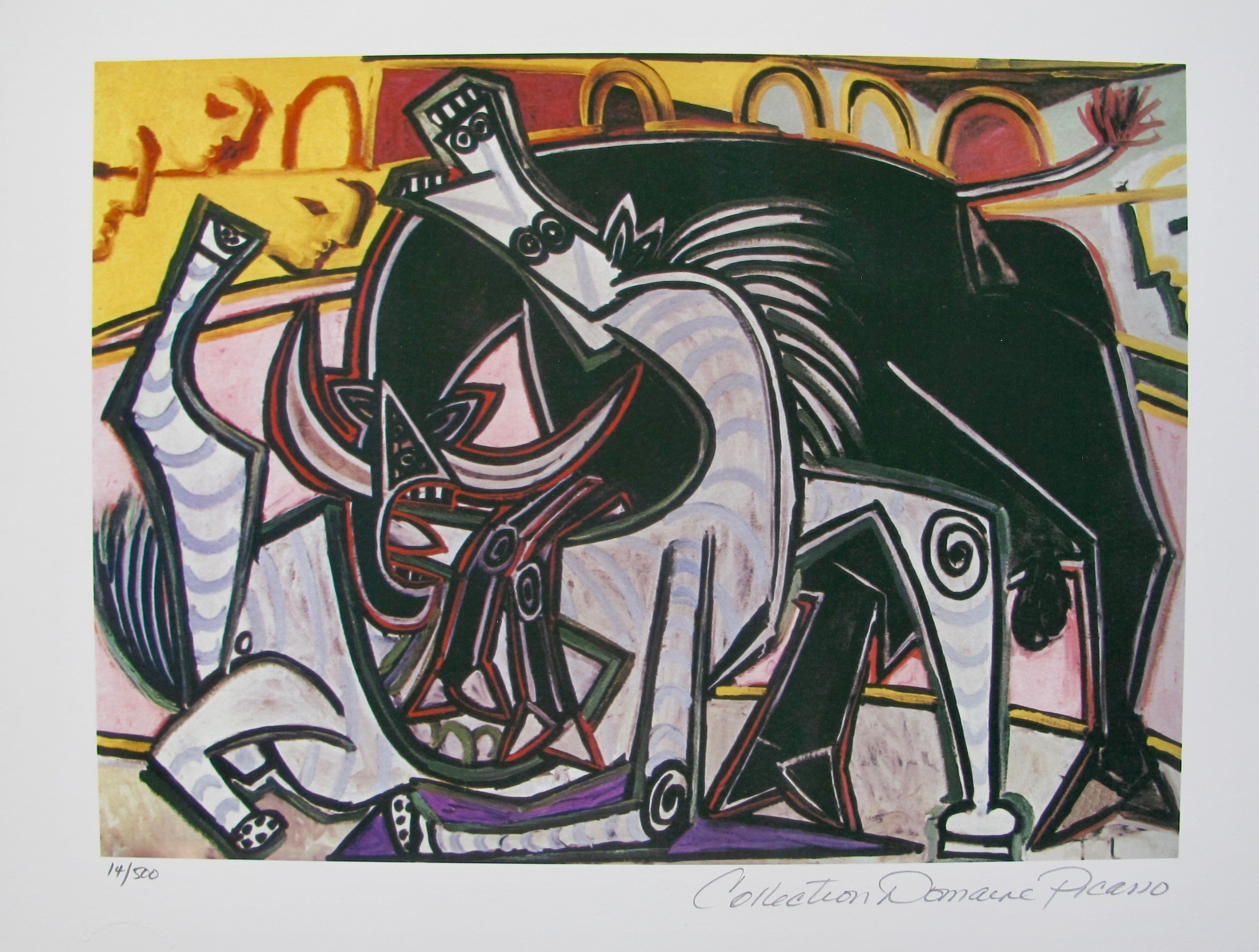 #61 THE BULLFIGHT Pablo Picasso Estate Signed Giclee
