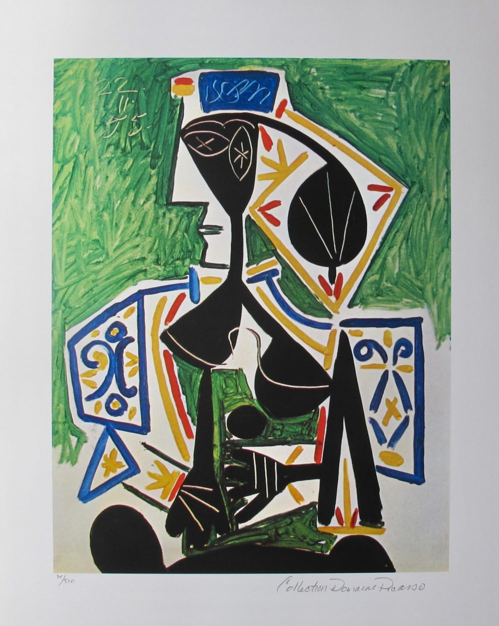 Pablo Picasso Woman IN GREEN Estate Signed Limited Edition Giclee