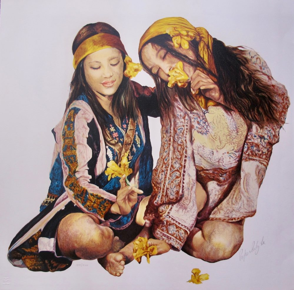 Popo and Ruby Lee SISTERS Hand Signed Limited Edition Serigraph