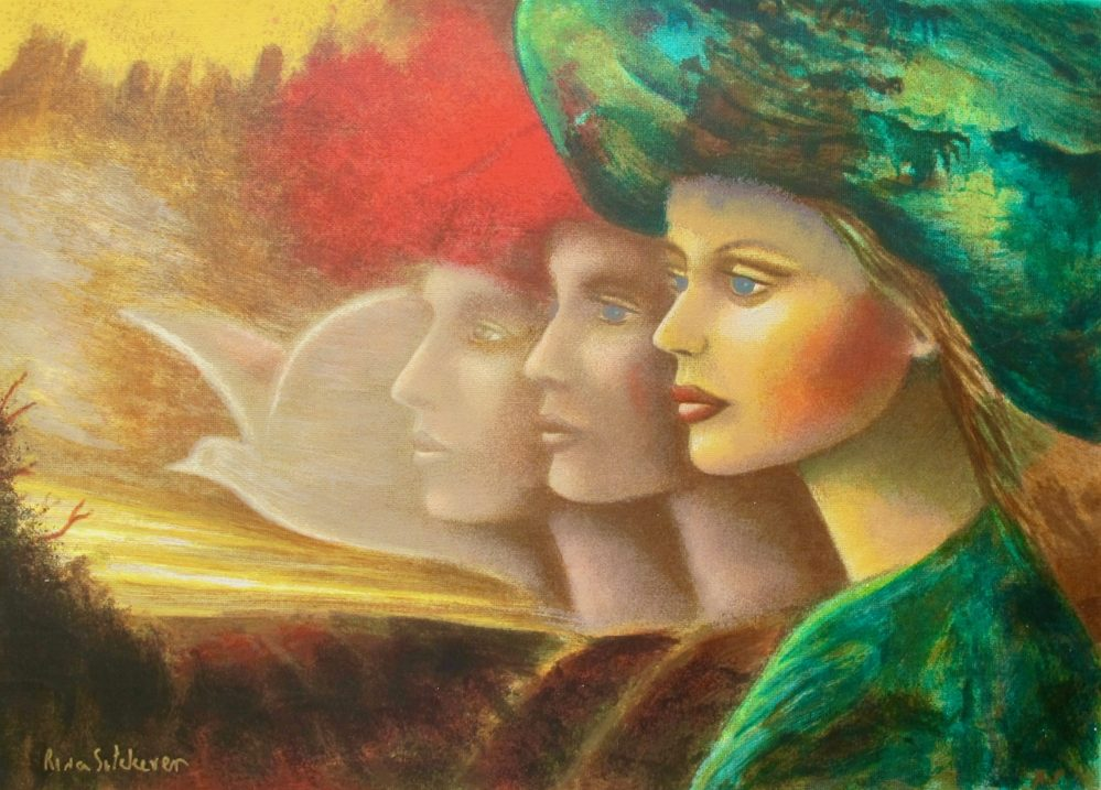 RINA SUTZKEVER DREAMS OF PEACE Hand Signed Serigraph on Canvas