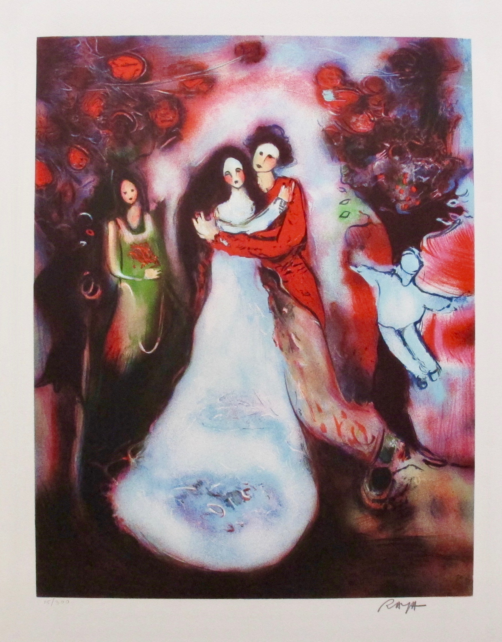RAYA SORKINE MARRIAGE Hand Signed Limited Edition Lithograph French Art