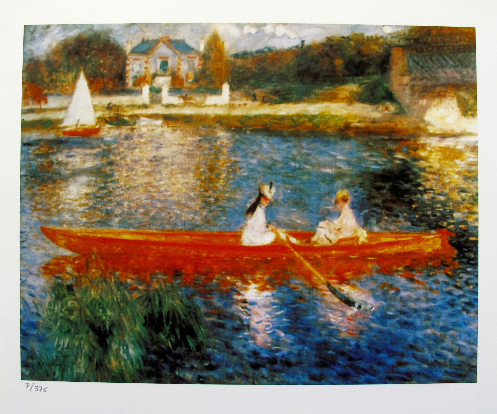 Pierre Auguste Renoir THE SKIFF Estate Signed Small Giclee