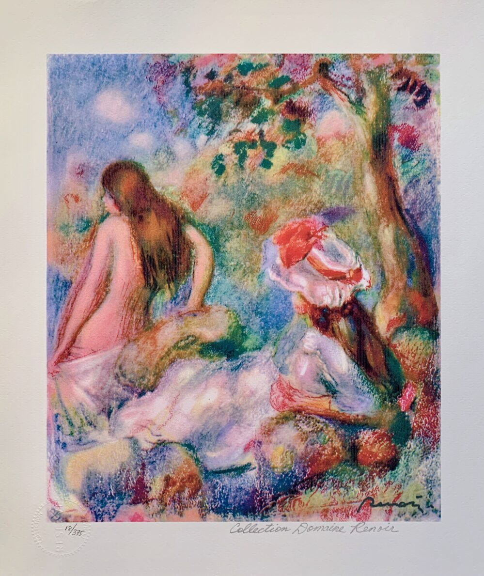 Pierre Auguste Renoir BATHING Estate Signed Small Giclee