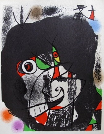 "JOAN MIRO "" REVOLUTION I "" Original Lithograph by XXieme Siecle in Mourlot Paris"