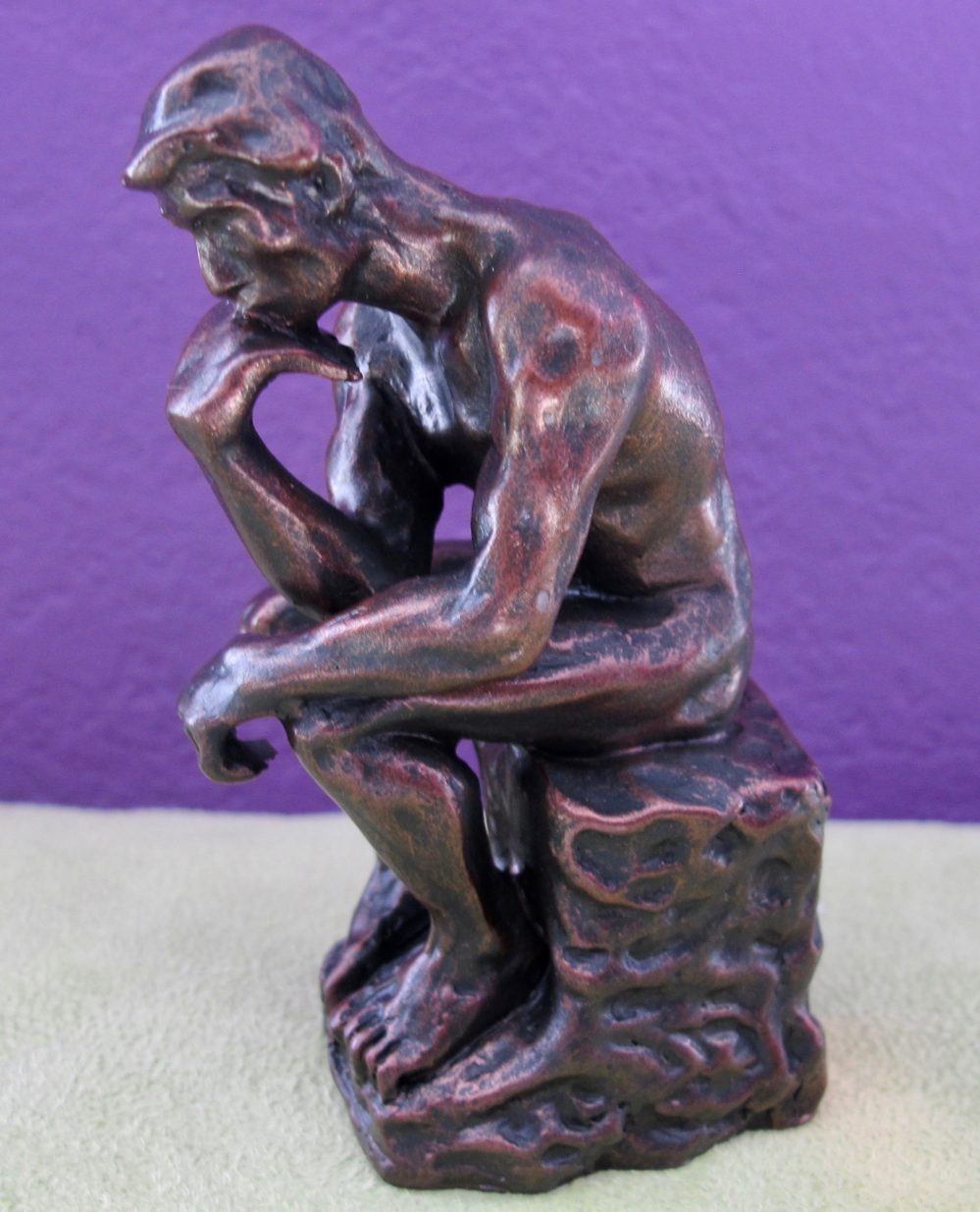 Auguste Rodin THE THINKER Small Statue Sculpture Figure