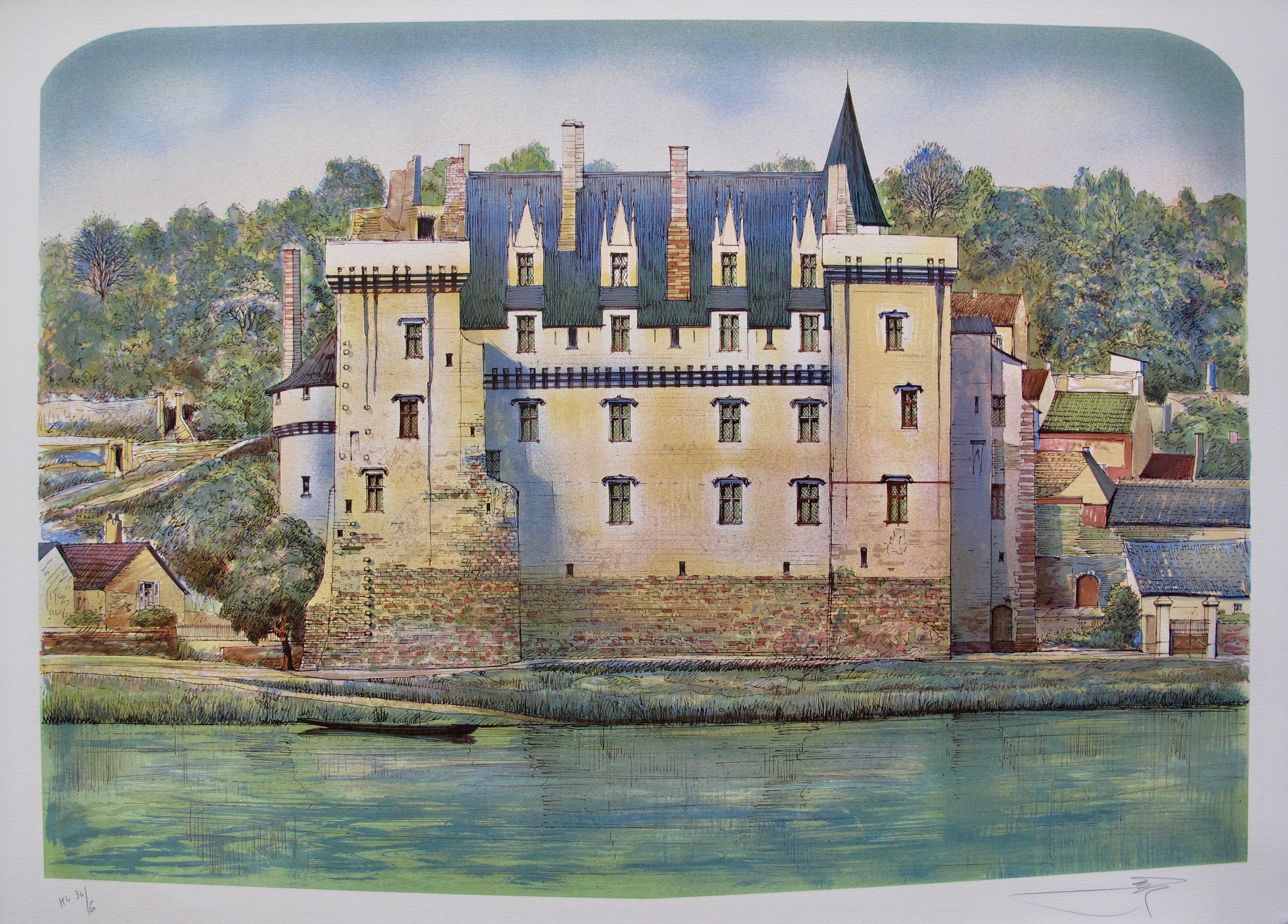 ROLF RAFFLEWSKI MONTSOREAU FRANCE Hand Signed Limited Edition Lithograph