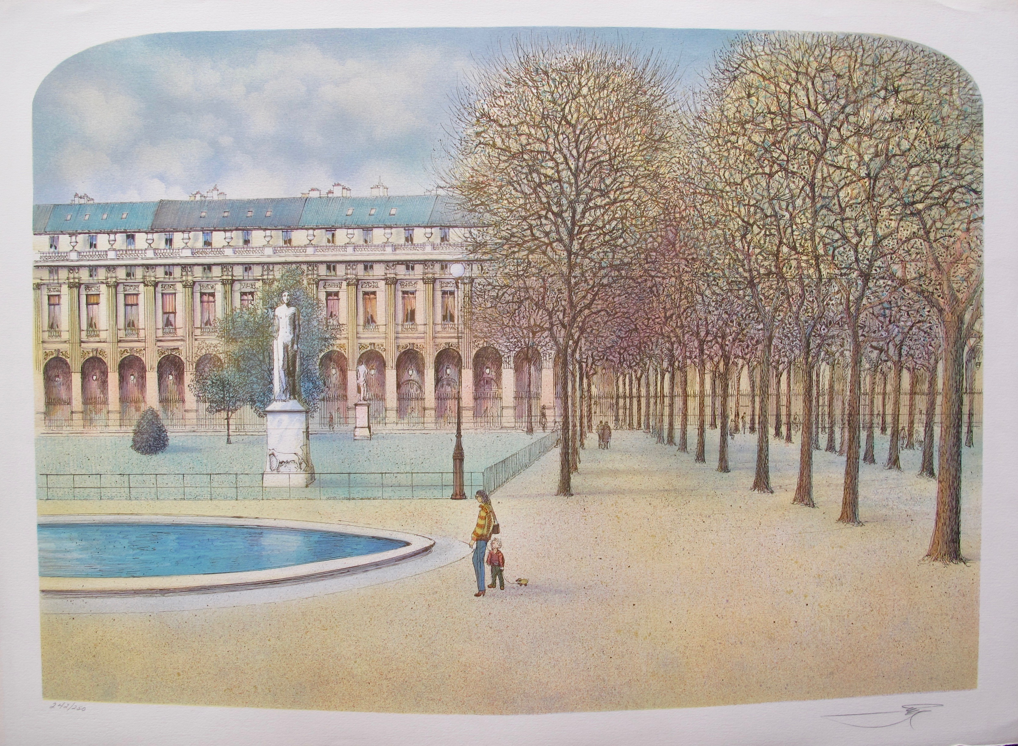 ROLF RAFFLEWSKI PARIS, FRANCE Hand Signed Limited Edition Lithograph