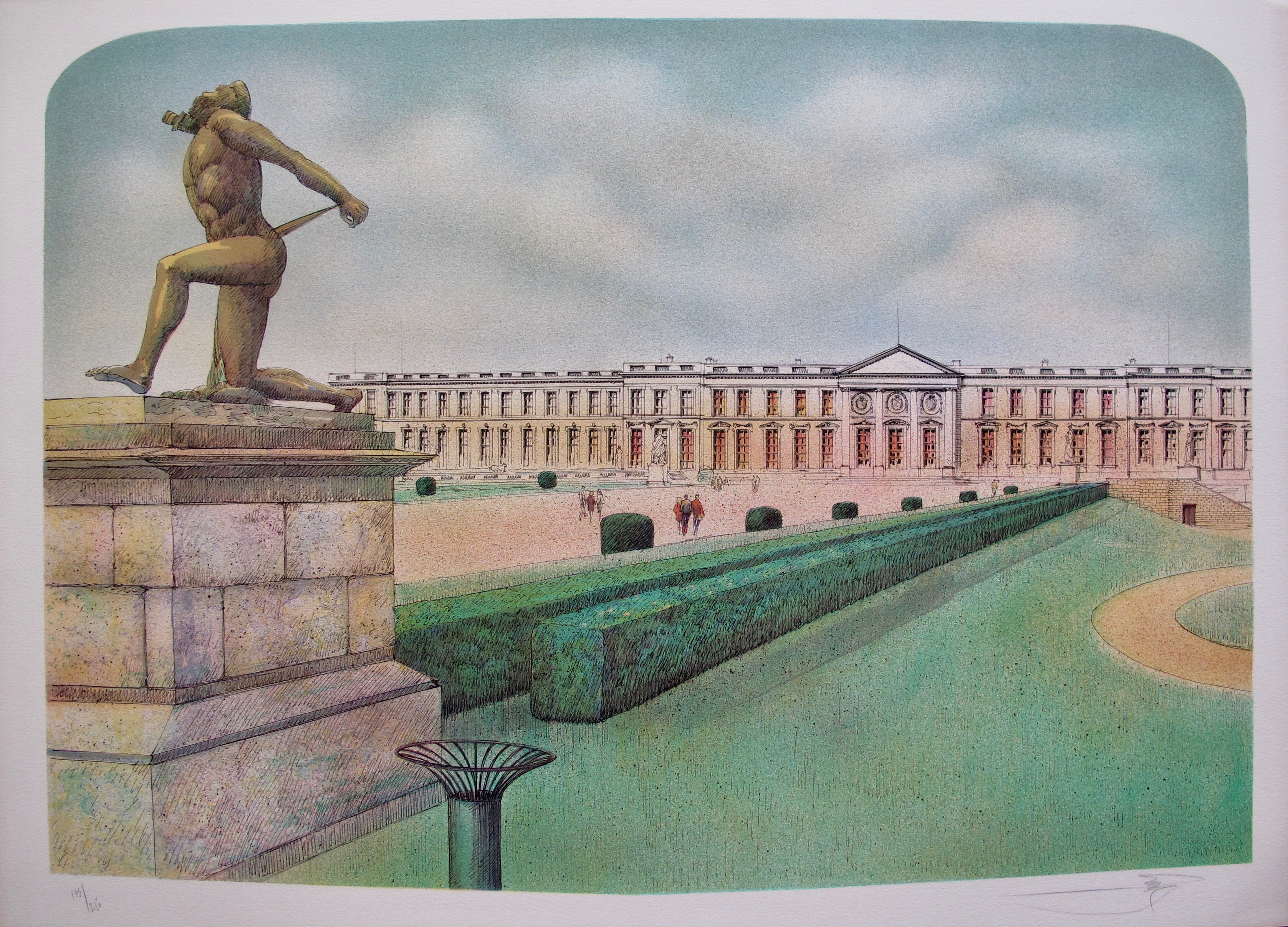 ROLF RAFFLEWSKI VERSAILLES FRANCE Hand Signed Limited Edition Lithograph