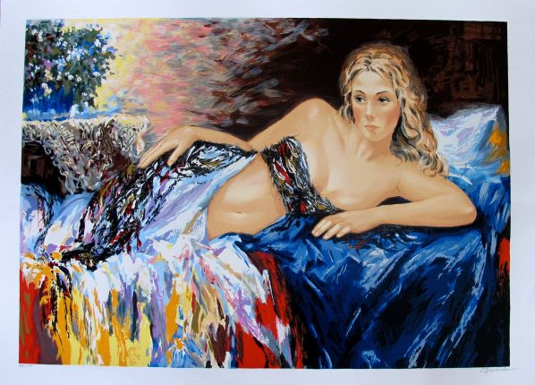 "SERGEY IGNATENKO ""RELAXATION"" Hand Signed Limited Edition Serigraph"