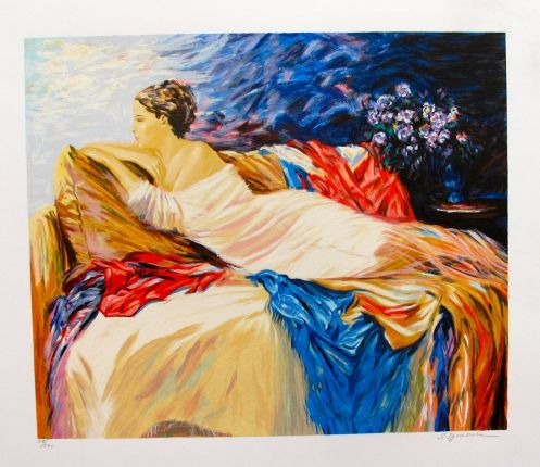 "SERGEY IGNATENKO ""MARY"" Hand Signed Limited Edition Serigraph"