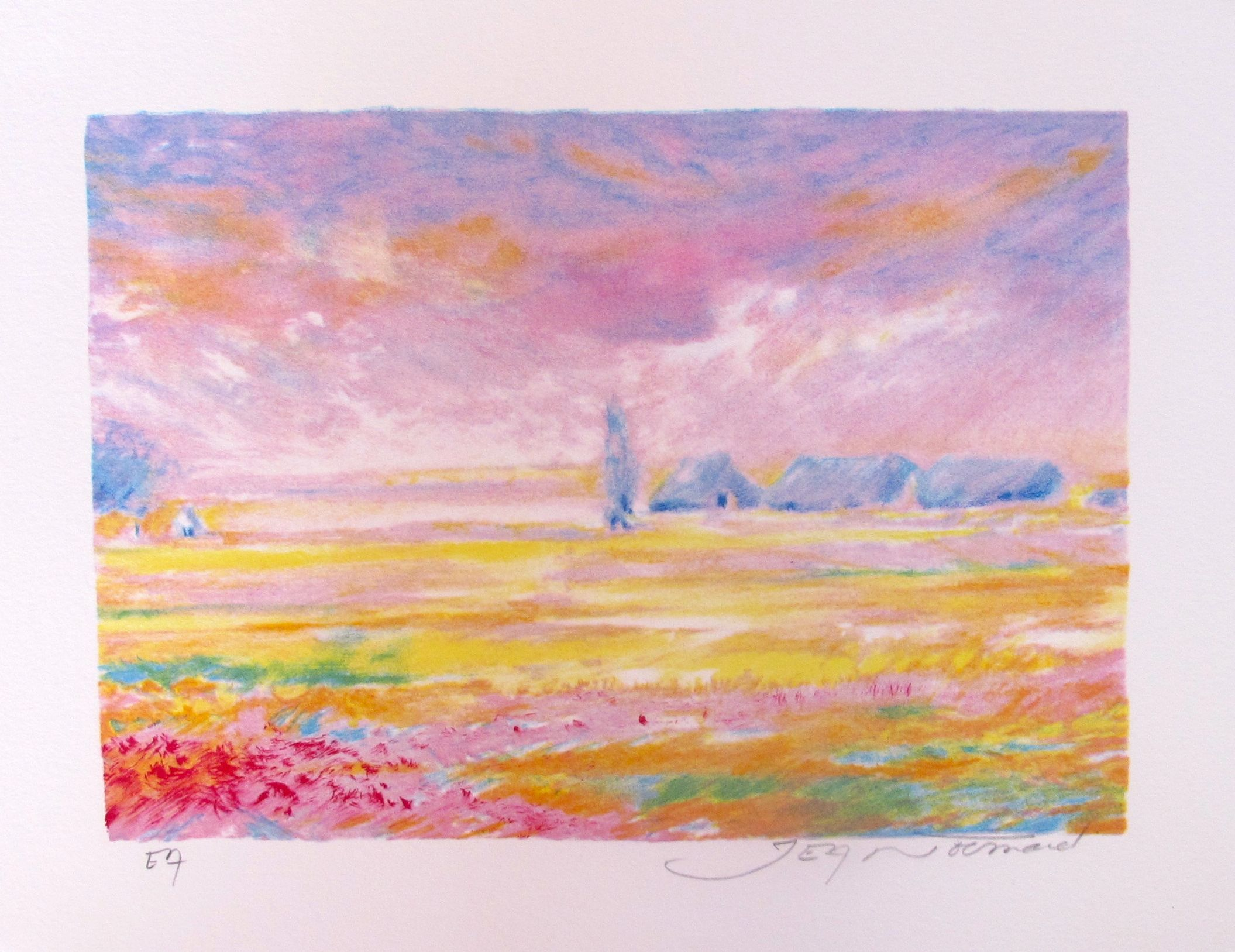 Jean Fernand SOLEIL LEVANT V Hand Signed Limited Edition Lithograph