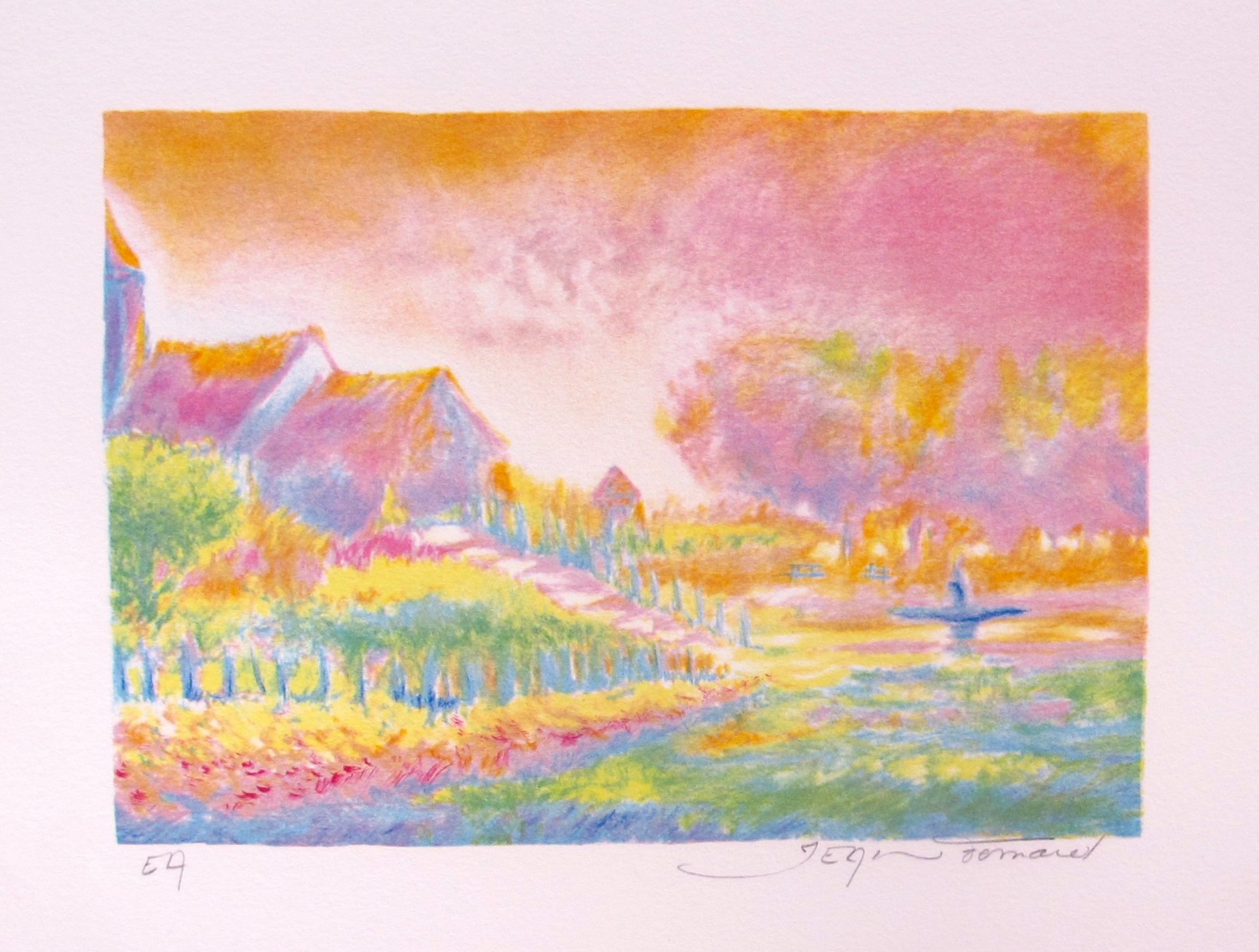 Jean Fernand SOLEIL LEVANT VI Hand Signed Limited Edition Lithograph