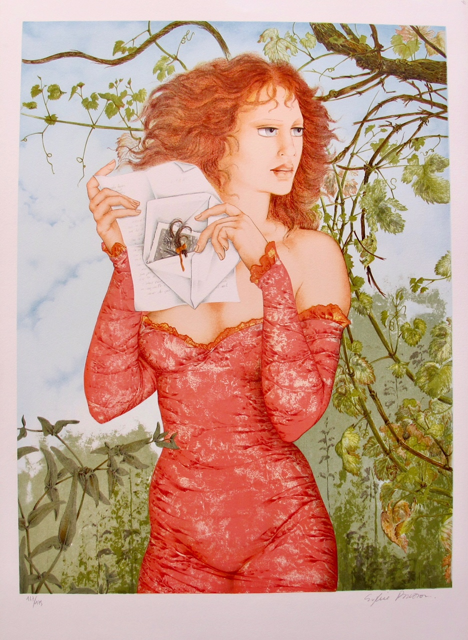 "SOPHIE BUSSON ""THE LETTER"" Hand Signed Limited Edition Lithograph"