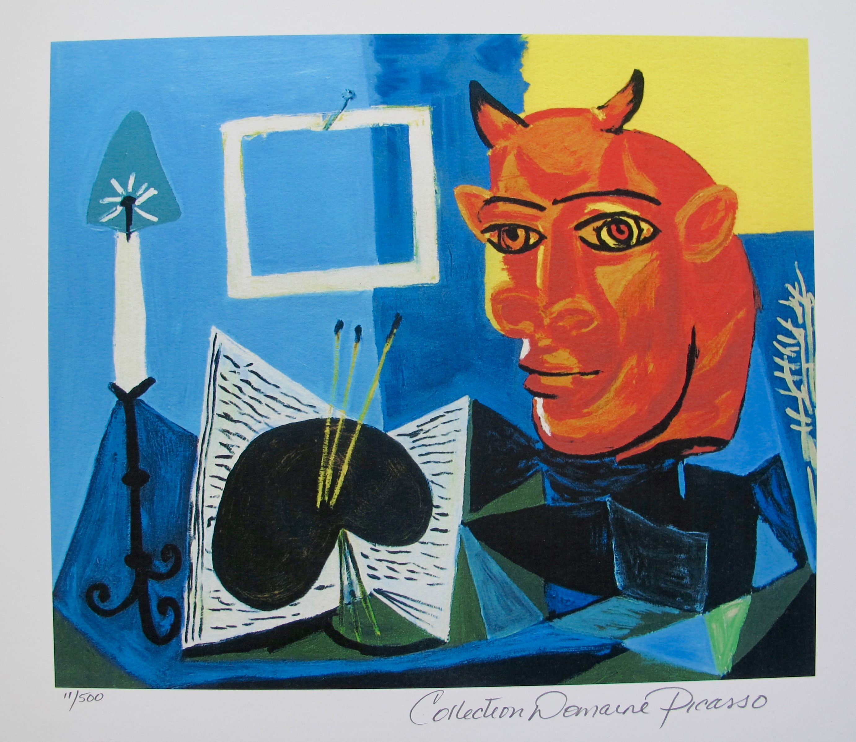 Pablo Picasso STILL LIFE WITH RED HEADED MINOTAUR Estate Signed Limited Edition Giclee