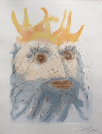 Salvador Dali 1975 Hand Signed Etching KING SAUL