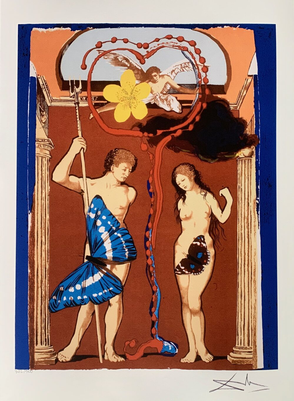 Salvador Dali ADAM & EVE Facsimile Signed Limited Edition Large Giclee