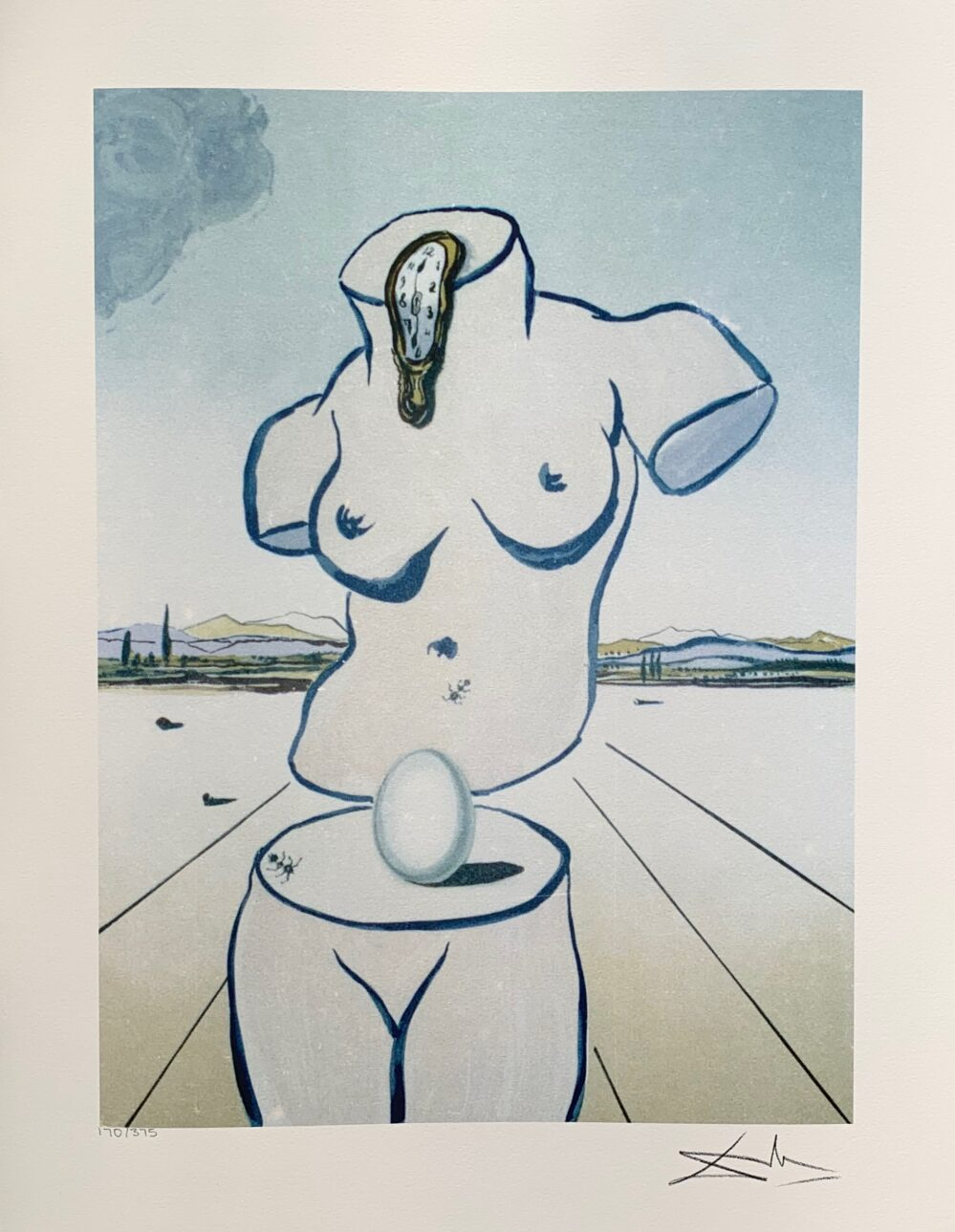 Salvador Dali BIRTH OF VENUS Facsimile Signed Limited Edition Large Giclee