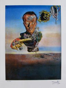 Salvador Dali PORTRAIT OF PAUL ELUARD Facsimile Signed & Numbered Giclee