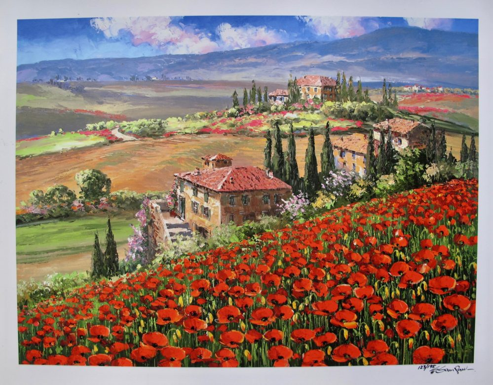 Sung Sam Park TUSCANY VILLA Hand Signed Limited Edition Giclee