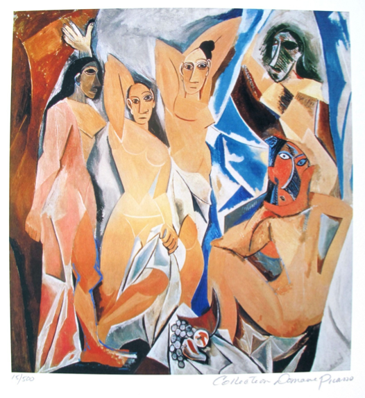 Pablo Picasso WOMEN OF AVIGNON Estate Signed Limited Edition Small Giclee