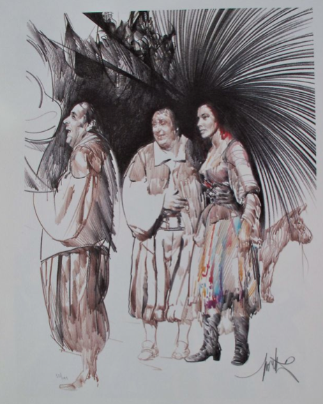 Raymond Moretti SANCHO Hand Signed Limited Edition Lithograph