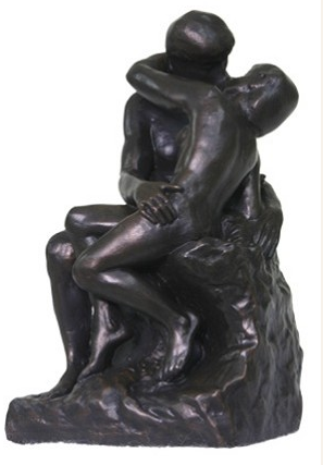 Auguste Rodin THE KISS Sculpture Figure Bonded Bronze Statue