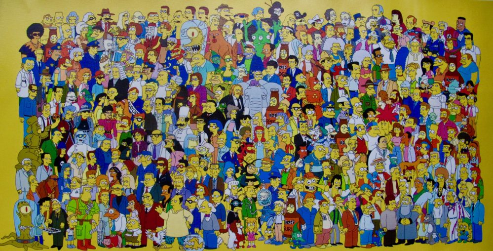 The SIMPSONS Art Giclee on Canvas