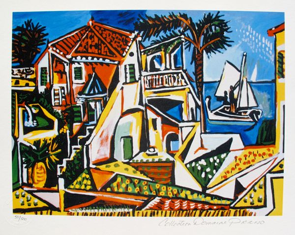 Pablo Picasso MEDITERRANEAN LANDSCAPE Estate Signed Limited Edition Small Giclee