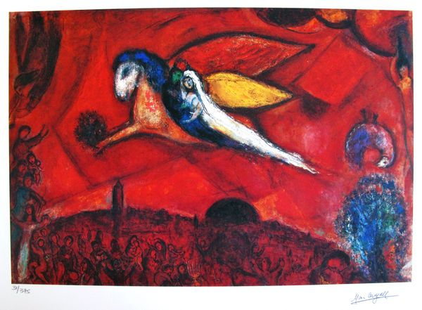 Marc Chagall SONG OF SONGS Limited Edition Facsimile Signed Small Giclee