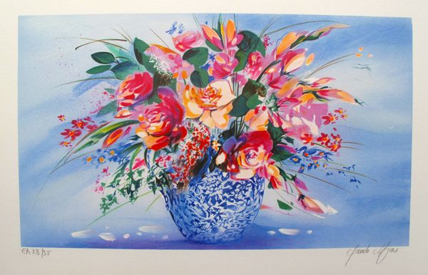 Claude Mars SPRING BOUQUET II Hand Signed Limited Edition Lithograph