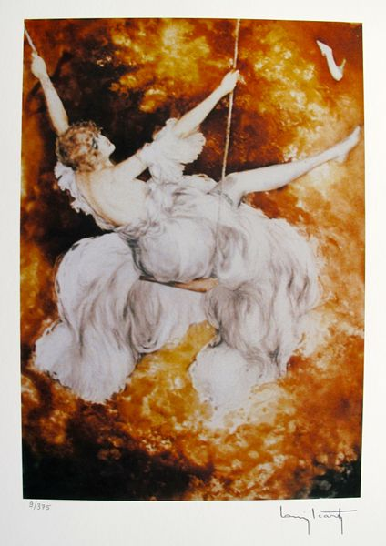 Louis Icart SWING Facsimile Signed Limited Edition Giclee Small
