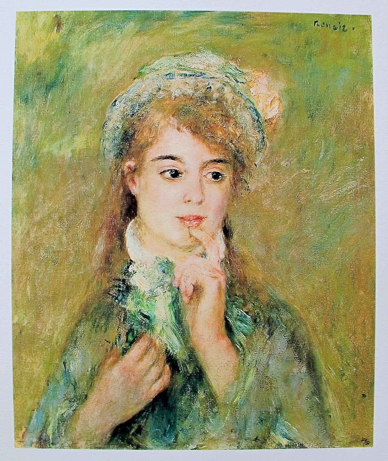 Pierre Auguste Renoir THE INGENUE,1876 Limited Edition Giclee
