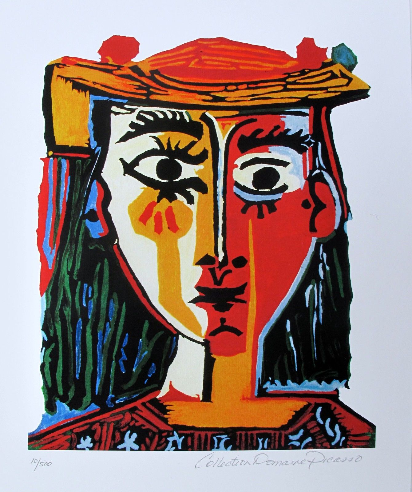 Pablo Picasso BUST OF A WOMAN Estate Signed Limited Edition Small Giclee