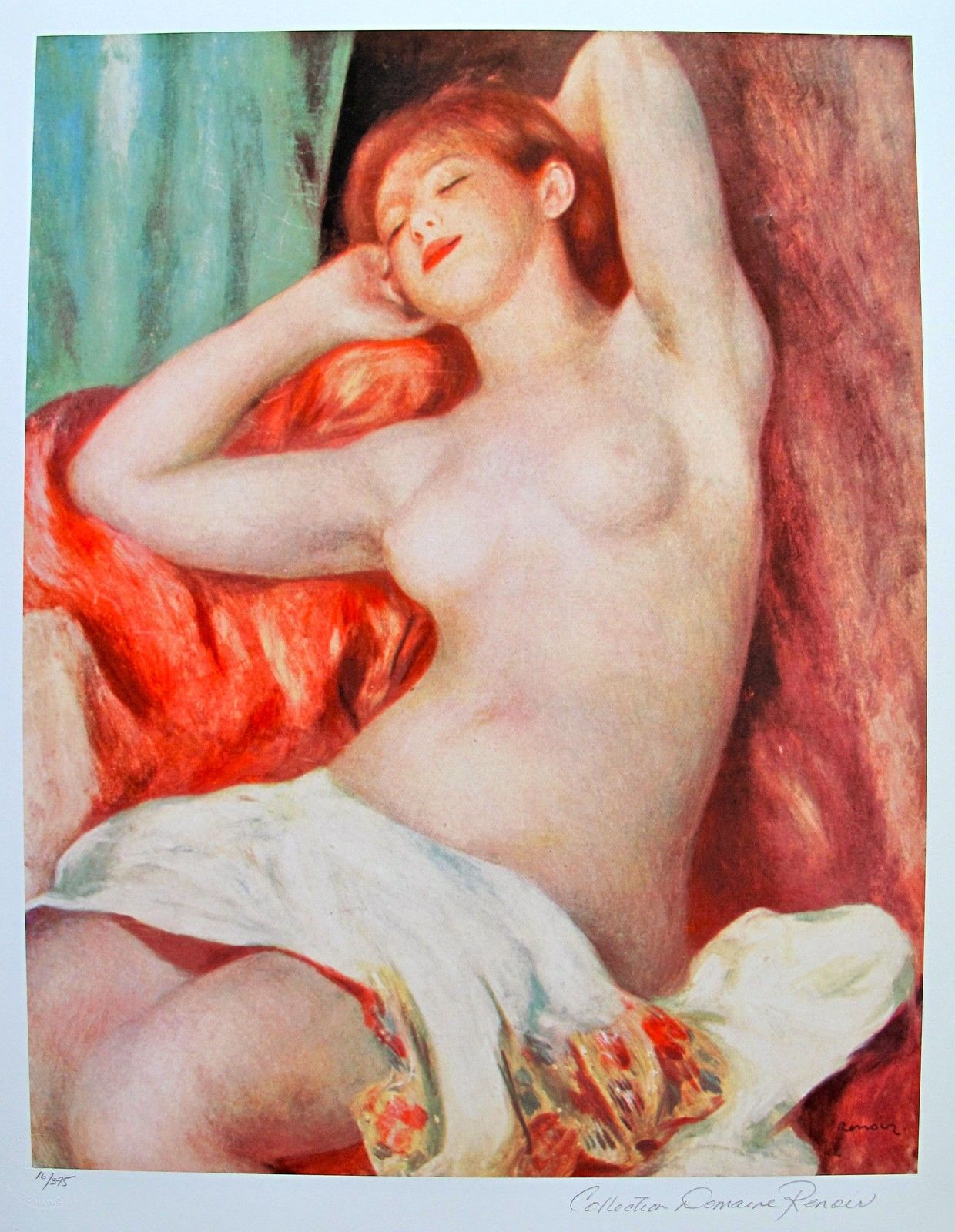 Pierre Auguste Renoir Estate Signed Giclee NUDE STUDY