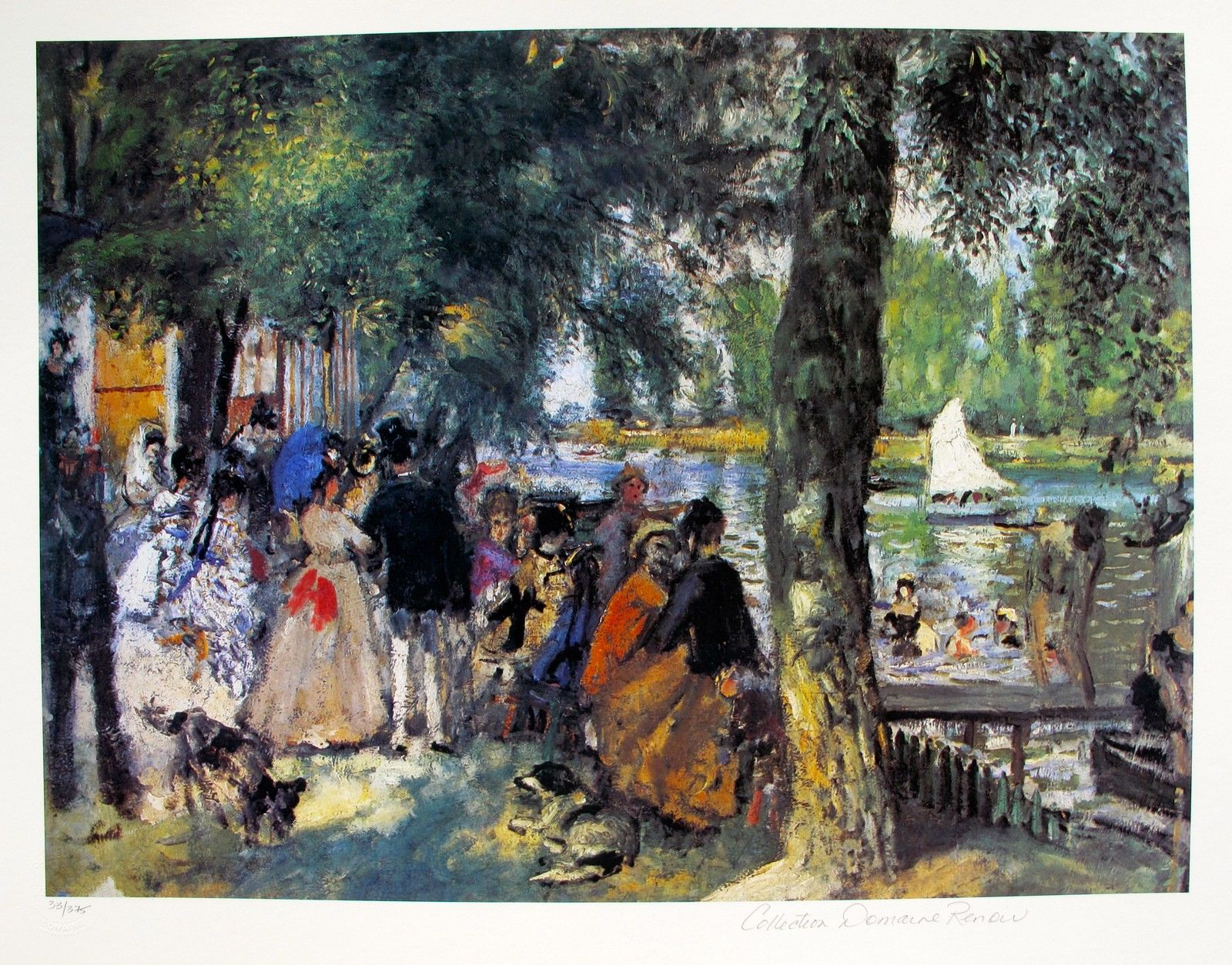 Pierre Auguste Renoir BATHING IN THE SEINE Estate Signed Small Giclee