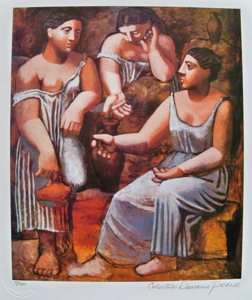 Pablo Picasso THREE SISTERS Estate Signed Limited Edition Small Giclee
