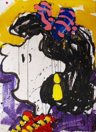 TOM EVERHART GLAM SLAM Hand Signed Limited Edition Lithograph LUCY PEANUTS