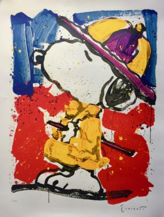 TOM EVERHART PRADA PUSS Hand Signed Limited Edition Lithograph SNOOPY PEANUTS