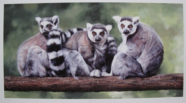 Mandie Haywood TREE-O LEMUR Hand Signed Limited Edition Giclee