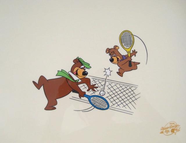 Yogi Bear and Boo Boo TENNIS ANYONE Animation Art Sericel