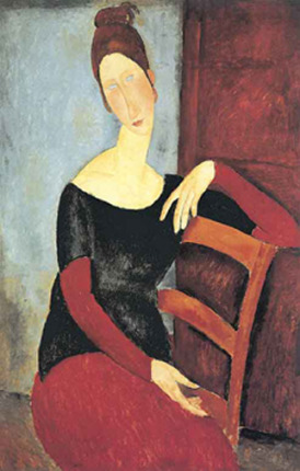 Amadeo Modigliani THE ARTIST'S WIFE: 1918 Signed Large Lithograph