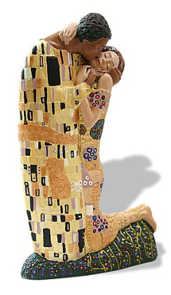 Gustav Klimt THE KISS Licensed Museum Sculpture NEW!