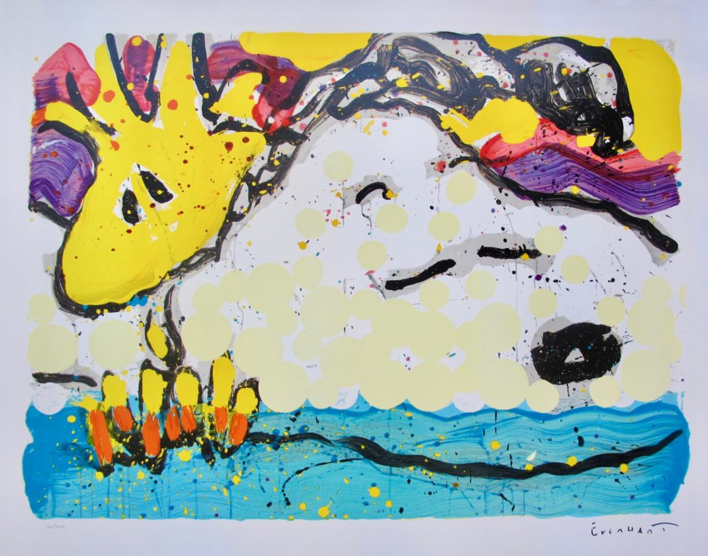 TOM EVERHART BORA BORA BOOGIE BORED Hand Signed Limited Editon Lithograph SNOOPY