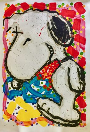 TOM EVERHART HIP HOP HOUND Hand Signed Limited Edition Lithograph SNOOPY PEANUTS