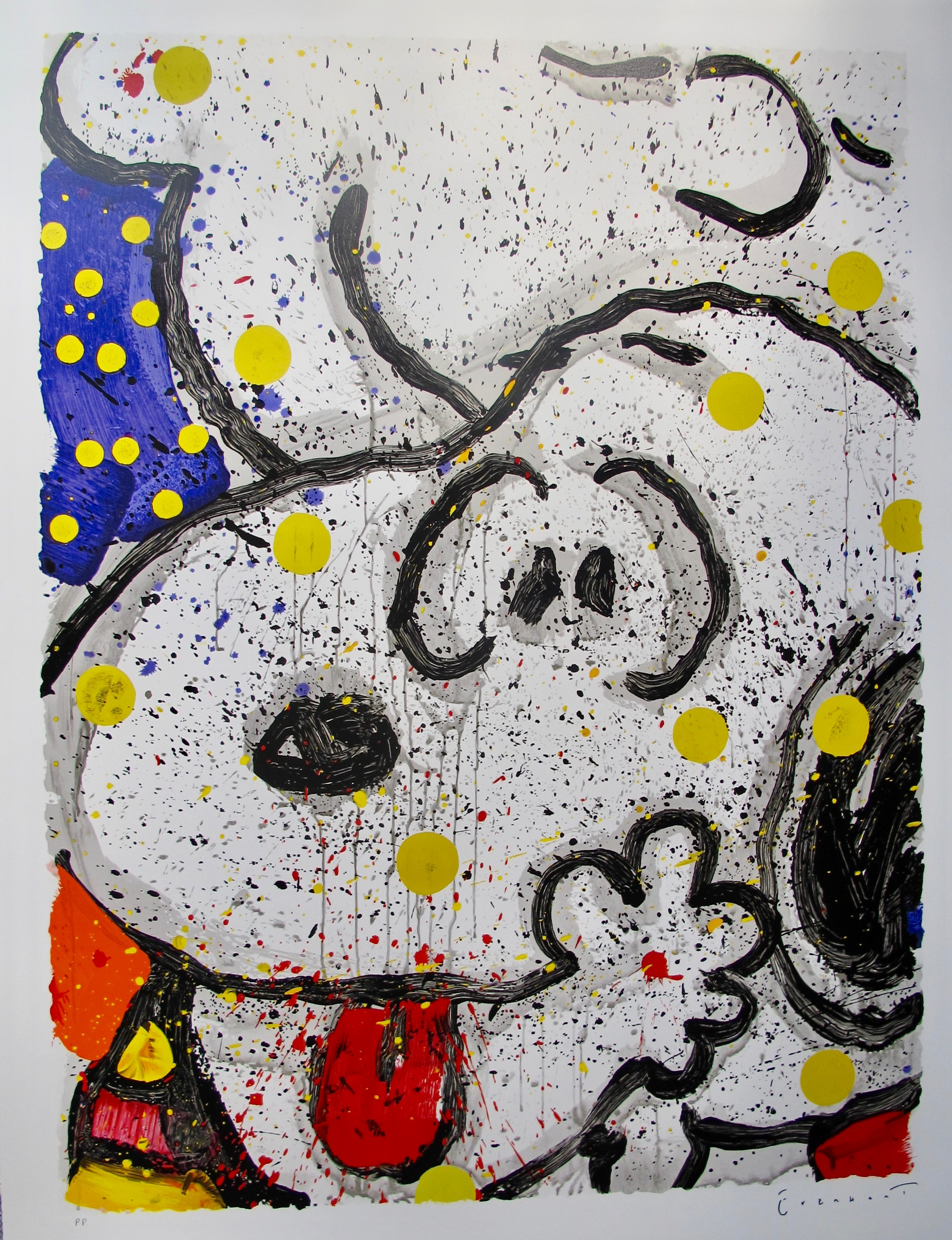 TOM EVERHART MY MAIN SQUEEZE Hand Signed Limited Edition Lithograph SNOOPY CHARLIE BROWN