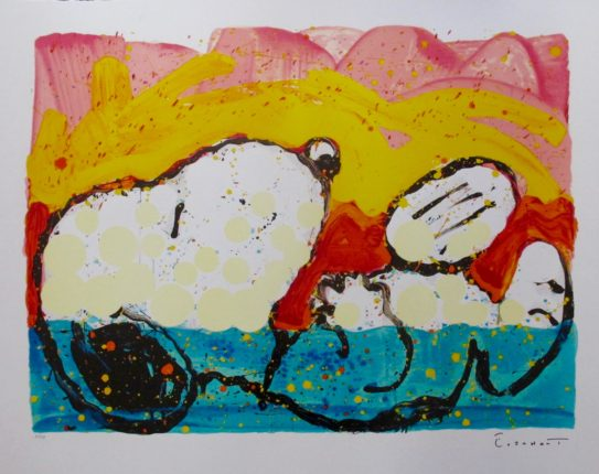 TOM EVERHART BORA BORA BOOGIE DOWN Hand Signed Limited Edition Lithograph SNOOPY