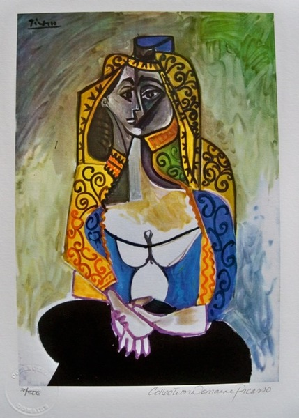Pablo Picasso TURKISH SHAWL Estate Signed Limited Edition Small Giclee