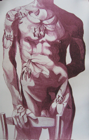 Lowell Nesbitt TWO FISTED ORCHIDS Hand Signed Limited Edition Lithograph